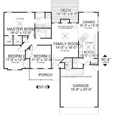 Ranch Floor Plans With Basement by 193 Best House Plans Images On Pinterest Architecture Small
