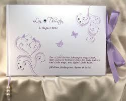 spr che hochzeitsbuch gästebuch zur hochzei in flieder lila violett mit