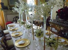 ideas how to decorate christmas table all white christmas table decorations ideas decoration for dinner