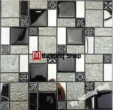 glass tile kitchen backsplashes pictures metal and white black white glass mosaic kitchen wall tiles backsplash rnmt100