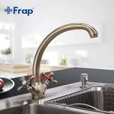 kitchen gooseneck automatic faucet china kitchen kitchen faucet antique bronze brass kitchen sink faucet double