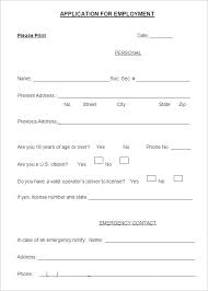 employment application templates u2013 10 free word pdf documents