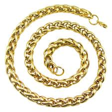 braided chain necklace images New arrival fashion men male link chain necklace gold 316l jpg