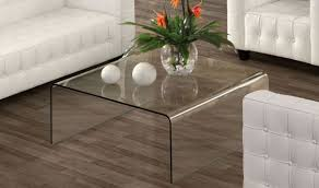 Designer Coffee Tables by Sojourn Modern Coffee Table In Clear Glass By Zuo Get Furniture