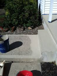 Refinishing Concrete Patio Resurfacing Concrete Porch Makeover Fills In Imperfections And