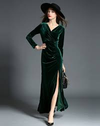 green velvet dress gowns and dress ideas