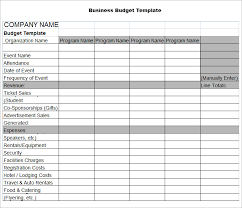 Business Expense Excel Template Business Budget Template 3 Free Word Excel Documents