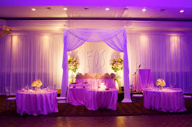 Toronto Wedding Decorator Gorgeous Head Table Sweetheart Table With Individual Tables For
