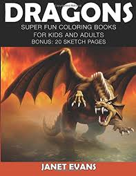 dragons super fun coloring books kids adults bonus 20