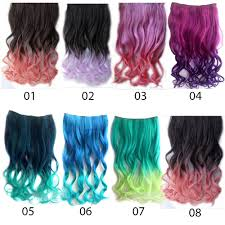 Hair Extension Malaysia by Clip On Ombre Dip Dye Curly Nylon Clip In Hair Extension By