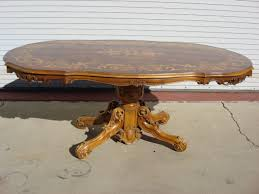 inlaid dining table and chairs antique furniture tables