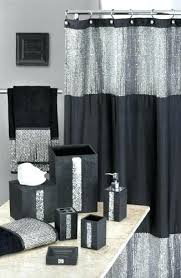 Silver And White Shower Curtain Black And Silver Bathroom Ideasfull Size Of Black Bathrooms Images