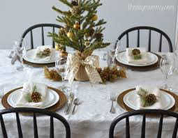 gold christmas table decorating ideas gold christmas table