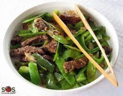 cuisiner des pois gourmands boeuf chinois aux pois mange tout