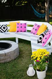 Firepit Bench White Diy Curved Pit Bench Featuring A Beautiful Mess