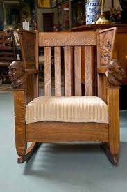 Childs Antique Chair 19th Century Mission Style Child U0027s Antique Oak Rocking Chair