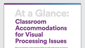Learning How To Read Worksheets Accommodations To Help Students With Visual Processing Issues