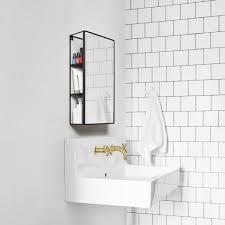bathrooms design bathroom mirror shelf hib delby modern mirrors