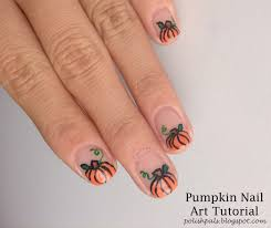 thanksgiving nail art tutorial polish pals pumpkin tutorial