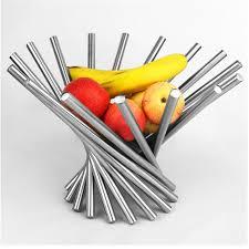 modern fruit holder creative modern type stainless steel fruit plate rack tray rotate