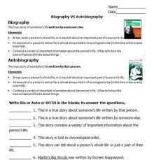 biography an autobiography difference biography vs autobiography by please feed the animals tpt