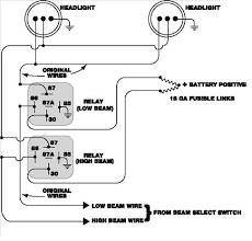 headlamp relay wiring diagram