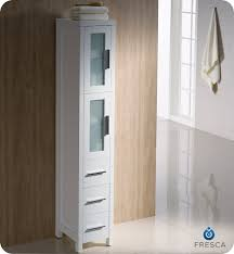 White Linen Cabinets For Bathroom Stylish White Bathroom Linen Cabinets Hemling Interiors