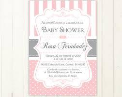 invitacion baby shower espanol girl baby shower in