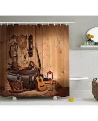 Western Bathroom Shower Curtains Shower Curtain American Style Print For Bathroom
