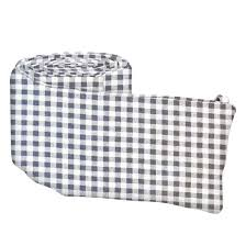 grey gingham check portable mini crib sheets sheetworld