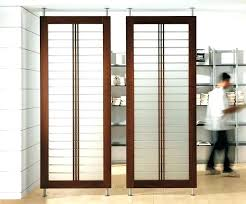 Temporary Room Divider With Door Room Seperator Uttermost Screen With Shelves Room Dividers At More