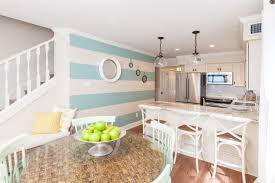 Glass Pendant Lights For Kitchen by Kitchen Style Beach Themed Kitchen Turqoise Stripe White Painted