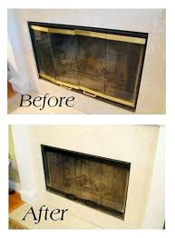 fireplace cover up fireplace cover ideas update brass fireplace doors how updated