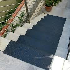 decorations black non slip rubber stair tread cover for outdoor