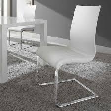 Esszimmerstuhl Ebay 2er Set Schwingstuhl Holz Weiß Esszimmerstuhl Freischwinger Stühle
