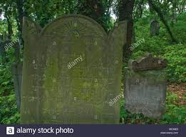 eye of providence symbol on headstone at jewish cemetery in stock