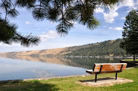 Park Bench Scene File Wallowa Lake State Park Bench Jpg Wikimedia Commons