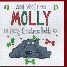 personalised christmas card from the dog by claire sowden design