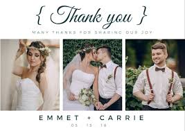 wedding thank you cards wedding thank you card templates by canva