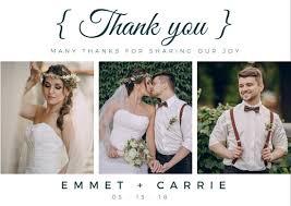 wedding photo thank you cards customize 91 wedding thank you card templates online canva