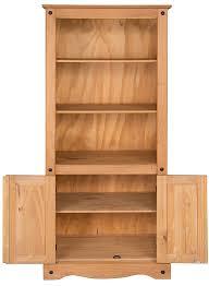 mercers furniture corona 2 door bookcase amazon co uk kitchen u0026 home