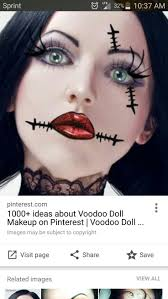 best 25 voodoo doll makeup ideas on pinterest scary doll makeup