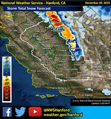 Snow Forecast Map Winter Storm Warning For California Today U0026 Tomorrow 1 3 Feet Of