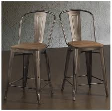 24 Bar Stool With Back Bar Stools 24 Inches Rustic Industrial Wood Metal With Back