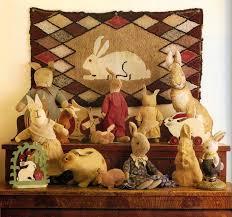 antique easter decorations 263 best primitive vintage bunnies images on