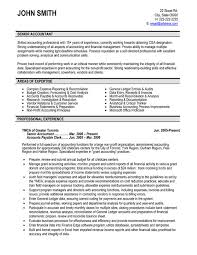 accounting resume templates top professionals resume templates sles