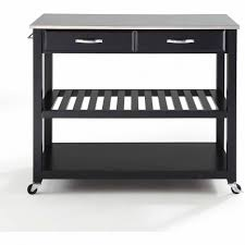 kitchen island cart walmart crosley furniture stainless steel top kitchen cart with optional