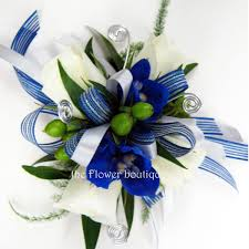 royal blue corsage prom 375 jpg