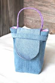 cloth gift bags pink and denim gift bag reusable party favor aftcra