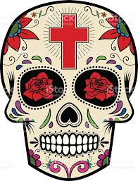 free halloween images on white background sugar skull isolated on white background day of the dead stock
